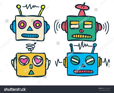 Robot Head Cartoon Stock Illustration 174372932