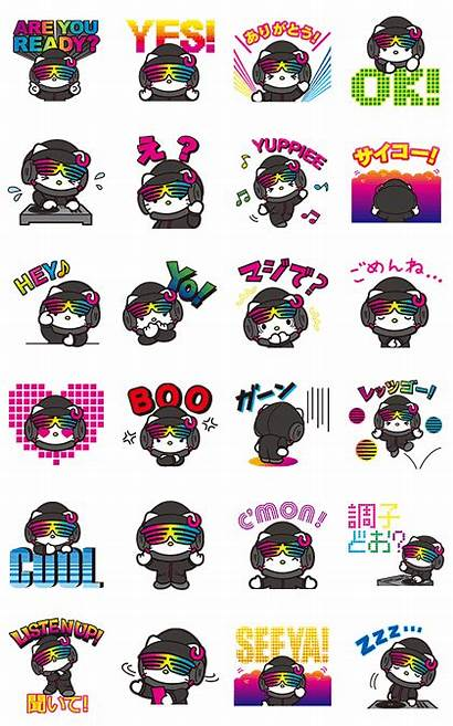 Hello Kitty Stickers Line Dj Pop Collaboration