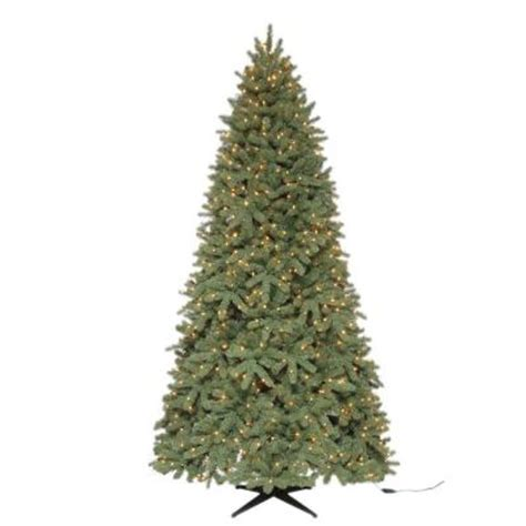 home depot live christmas trees for sale martha stewart living 9 ft pre lit downswept wimberly spruce