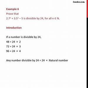Example 6 - Prove That 2 7n   3 5n
