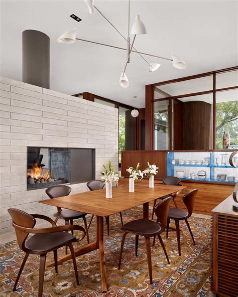 double sided fireplaces  dining rooms home design lover