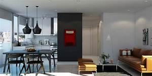 1001 idees pour amenager une cuisine ouverte dans l39air for Chaises salle manger capitonnées pour petite cuisine Équipée