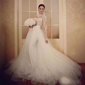 e10 2017 long sleeves lace ball gown wedding dresses With wedding dress removable sleeves