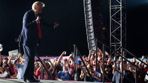 trump dancing donald village covid dances feel ymca rally tells fans he president comeback powerful tour roasted getty florida loeb