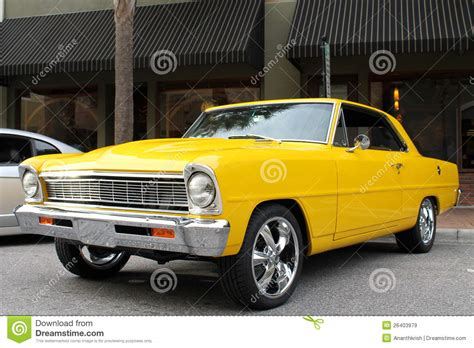 The Old Chevy Ii Car Stock Image. Image Of Style, Chevy