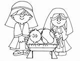 Nativity Coloring Pages Printable sketch template