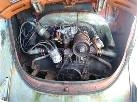 vw super beetle project  parts car  tow bar