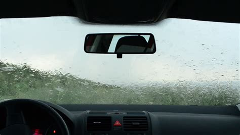 Slow Car Wipers Video From Inside The Car During A