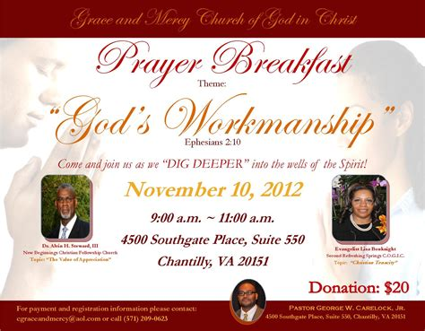 Gmc Prayer Breakfast 2012 Tickets, Sat, Nov 10, 2012 At 9. Birthday Photo Frame Collage. Ms Publisher Flyer Template. Create Microsoft Invoice Template Download. Tumblr Birthday Ideas. Graduate School In Germany. Registered Nurse Graduation Gifts. Expense Report Template Free. Good Cash Sale Invoice Template