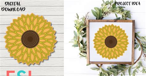 If you love sunflowers too, then why not make a 3d layered sunflower with your cricut machine so you can enjoy this lovely yellow flower all year long? Sunflower 3D Mandala Svg Free - Layered SVG Cut File