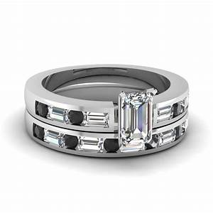 explore marvelous collection of baguette engagement ring With white gold wedding rings with black diamonds