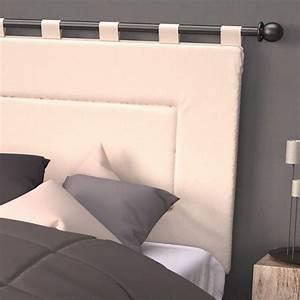 Tissu Pour Tete De Lit : tete de lit tissu sur tringle table de lit ~ Teatrodelosmanantiales.com Idées de Décoration