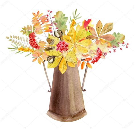 clipart autunno mano acquerello dipinto mockup clipart mascherina dei