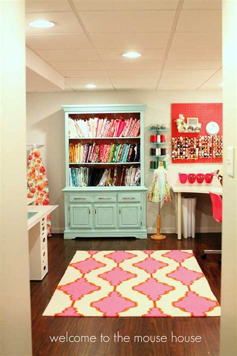 An Incredible Colourful Basement Craft Room Haven! Heart