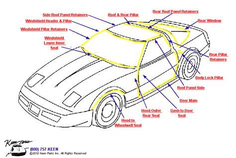 corvette weatherstripping 1953 2017 corvette coupe weatherstrips parts parts accessories for corvettes