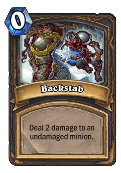backstab card basic hearthstone rogue mana spell cards decks cost hearthstonetopdecks