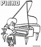 Piano Coloring Popular sketch template