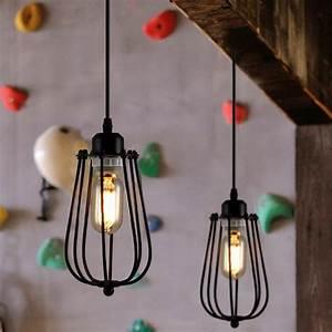 Amazon Luminaire Suspension : plafonnier industriel lustre e27 suspension vintage edison minimaliste lampe suspendu r tro ~ Teatrodelosmanantiales.com Idées de Décoration