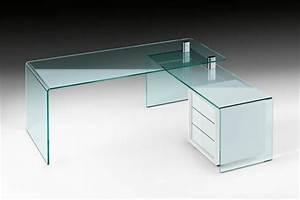 Schreibtisch Aus Glas : glasschreibtisch effektvolle modelle ~ Markanthonyermac.com Haus und Dekorationen