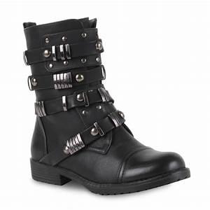 Coole Kostüme Damen : coole damen biker boots schnallen stiefeletten lederoptik schuhe 98333 gr 36 41 ebay ~ Frokenaadalensverden.com Haus und Dekorationen