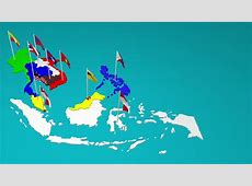 Stock Video Clip of Southeast asia countries ASEAN map