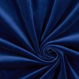 Rideaux Velours Bleu : tissu de d coration velours bleu roi autres tissus de d coration uni ~ Teatrodelosmanantiales.com Idées de Décoration
