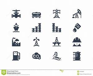 Oil industry icons stock vector. Image of diesel, design ...