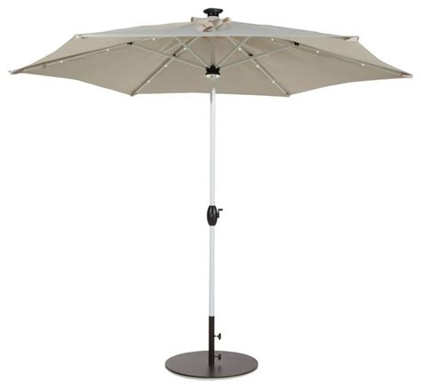 solar 9 lighted patio umbrella abba patio 9 led solar powered patio umbrella beige