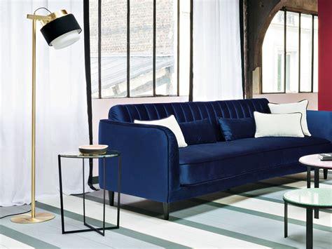 canapé velours design canapé bleu marine chaios com