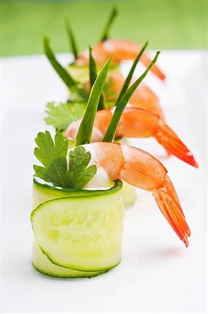 Presentation Shrimp Foods Different Unique Cucumber Interesting
