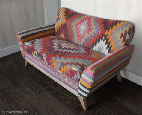 Kilim Loveseat by The Lorimer Project Part Ii Kilim Loveseat This Way Home