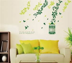 Wall art designs ideas birds and trees