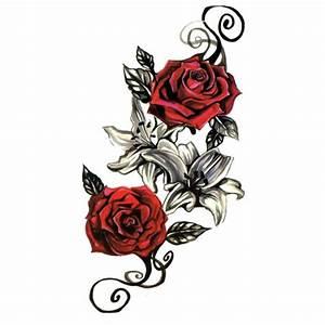 Tatouage De Rose : temporary tattoos ultra realistic fake tattoos instant ~ Melissatoandfro.com Idées de Décoration