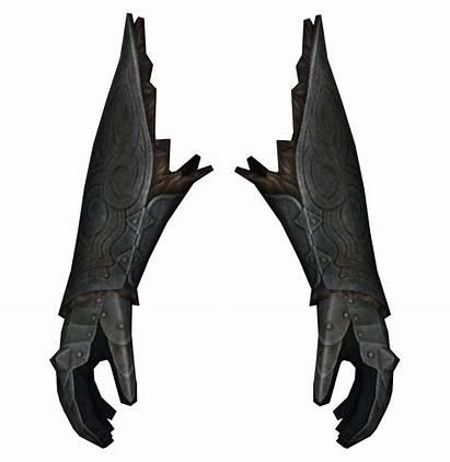 Gauntlets Steel Plate Male Armor Scrolls Elder