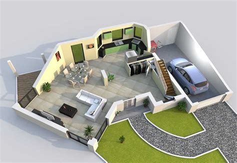 modèle plan d plan maison 3d baticonfort