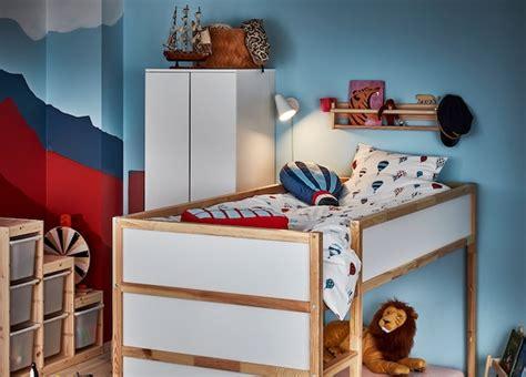 kura reversible bed white pine ikea