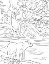 Coloring Mountains Smoky Colorear National Mountain Sunset Printable Landscape Oso Bear Dibujos Amerikanischer Supercoloring Ausmalbild Schwarzbaer Osos Czarny Nature Piece sketch template