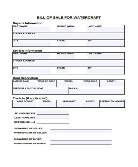 bill  sale forms   ms word