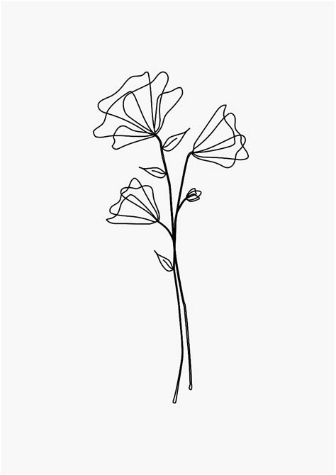 A beautiful design of a couple of flowers, perfect for a tattoo | Drawings, Flower tattoos
