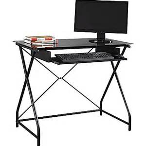 easy2go glass top computer desk staples 174