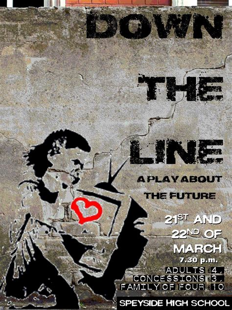 poster come line down mr play