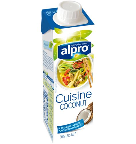 utilisation du lait de coco en cuisine alternative végétale à la crème noix de coco cuisine alpro