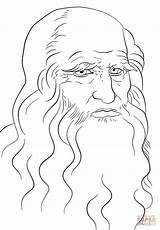 Leonardo Vinci Coloring Portrait Self Printable Drawing Colorare Disegno Disegni Crafts Arte Colouring Bambini Immagini Supercoloring Autoritratto Colorear Disegnato Risultati sketch template