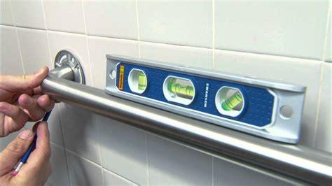 grab bar installation   accessible bathroom youtube