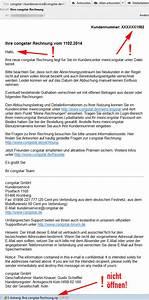 Anschreiben Rechnung Per E Mail : vorsicht vor gef lschter congstar rechnung per email ~ Themetempest.com Abrechnung