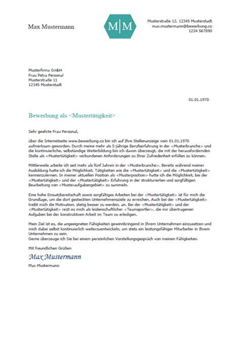 Bewerbung Anschreiben by Vorlage Muster Bewerbungsschreiben Vorlage 2018