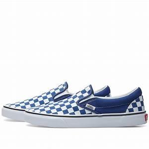 Vans Size Chart Japan Vans Classic Slip On Checkerboard Estate Blue True White
