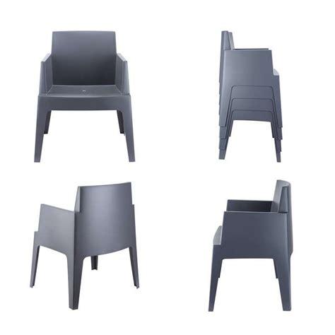 Fauteuil Plastique Exterieur Design by Fauteuil De Terrasse Moderne En Polypropyl 232 Ne Box 4