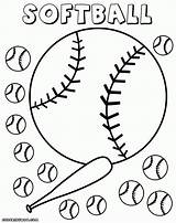 Softball Coloring Pages Glove Drawing Field Baseball Diamond Getdrawings Info Colorings sketch template