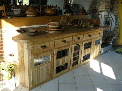 cuisine en palette palettes en bois idées de bricolage de meubles